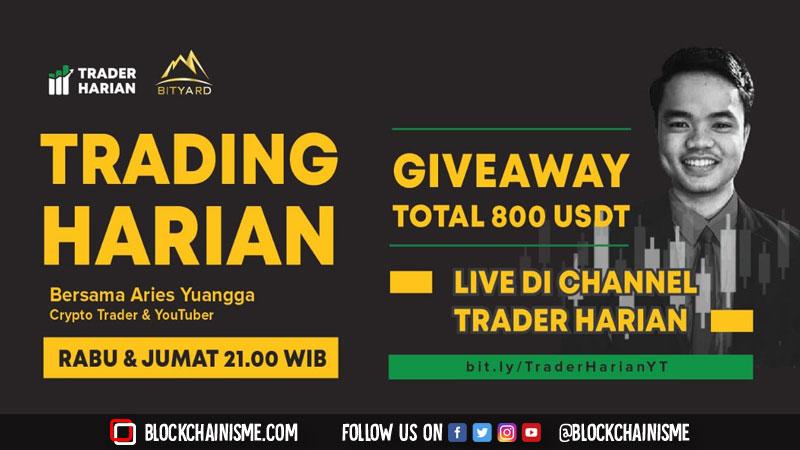 Live streaming Trading Harian bersama Aries Yuangga setiap hari Rabu dan Jumat