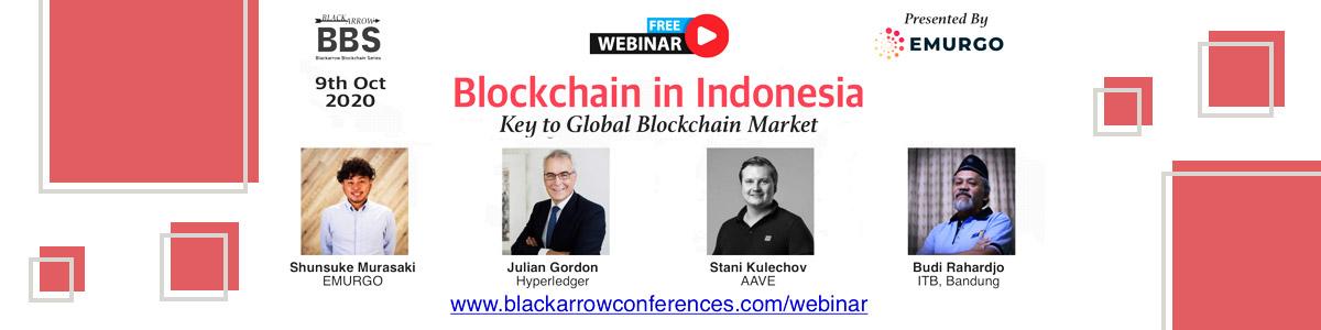 Banner Blackarrow Blockchain in Indonesia Online Webinar