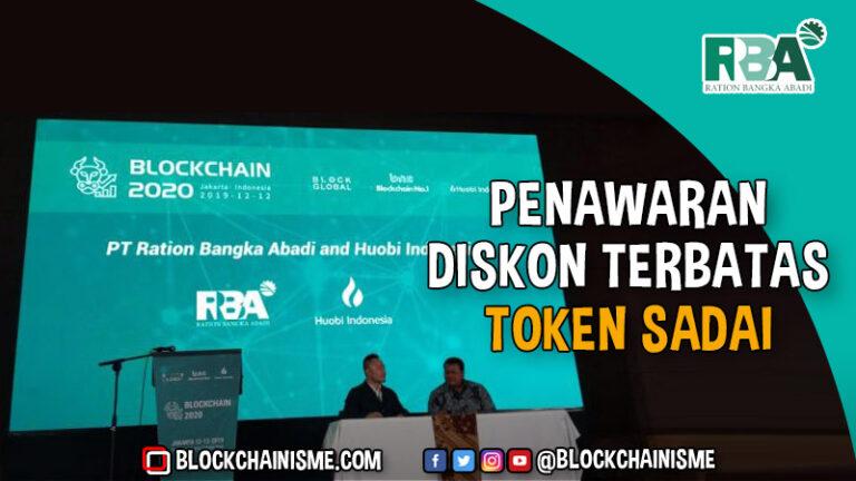 Putaran Pertama Diskon Terbatas Token SADAI April 2021, Kawasan Industri Sadai Blockchain